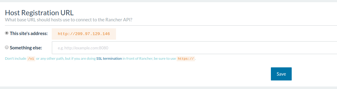 Adding your URL to Rancher
